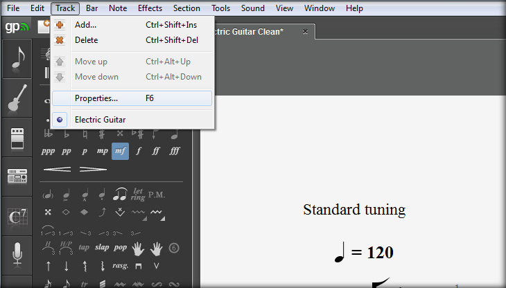 Guitar Pro 6 How to Hide Standard Notation