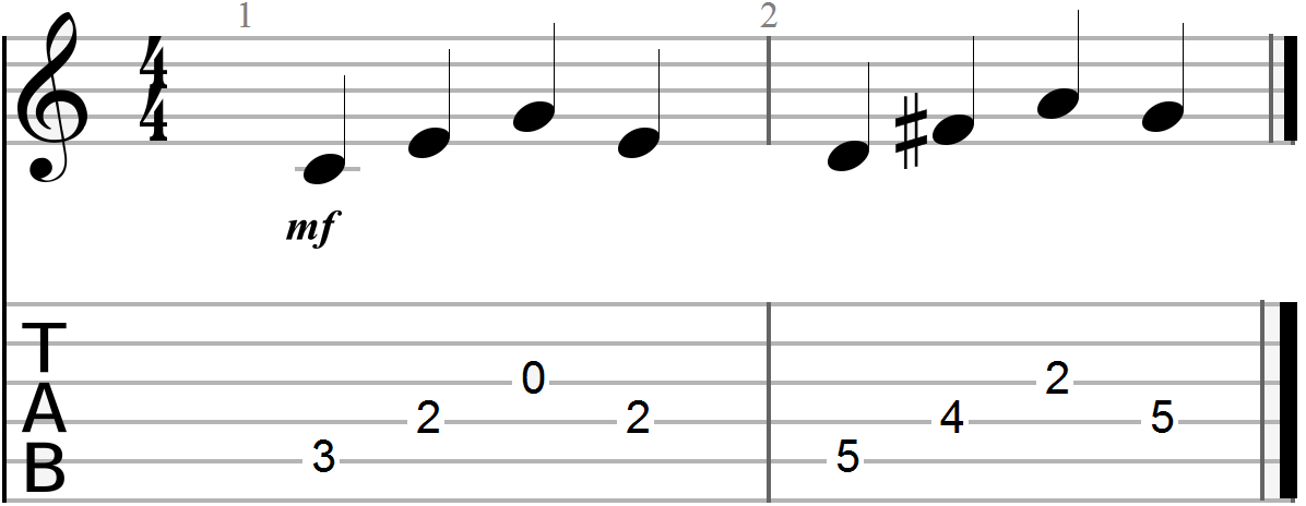 Arpeggiated Triadic Chord Progression (C to D)