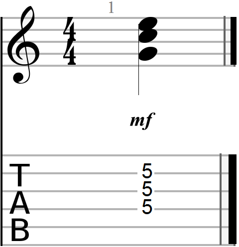 C Major Triadic Barre Chord