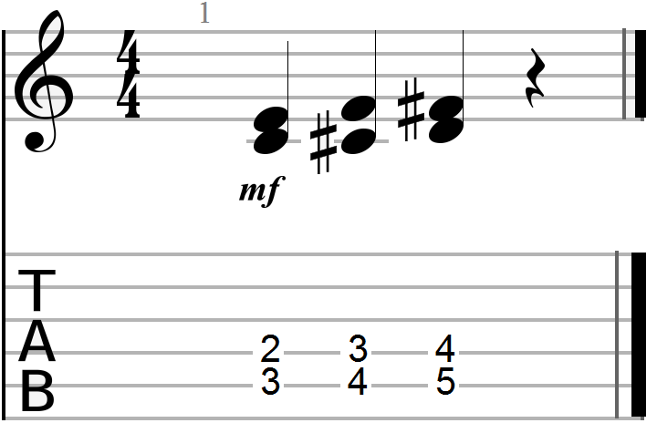 Dyadic Chord Progression Example