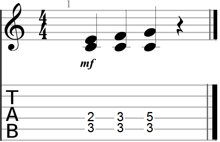Dyadic Chord Progression in the key of C