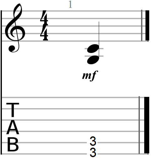 Root plus fourth dyadic chord