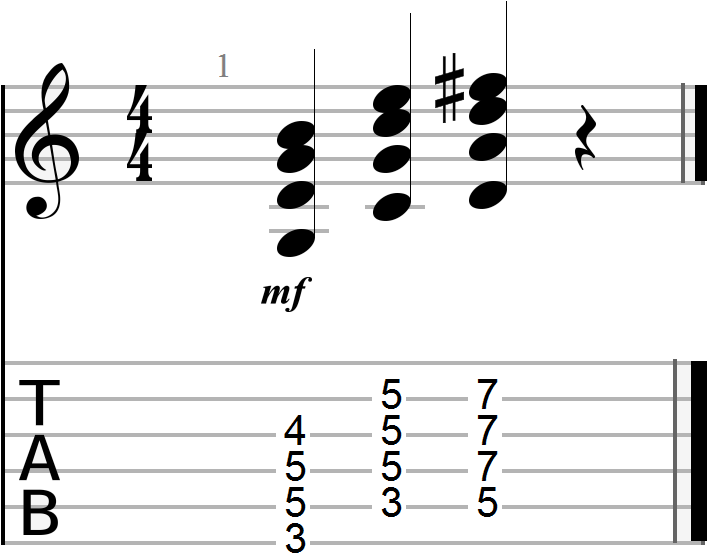 G, C and D 12 Bar Blues Chord Progression (full major form)