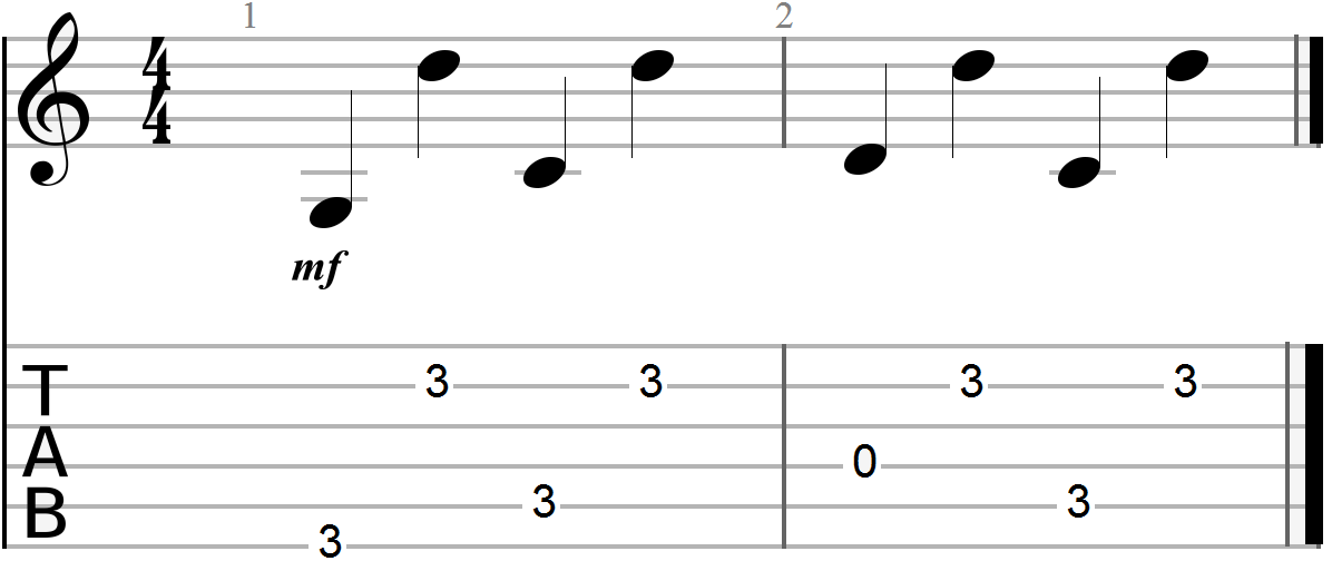G, C and D Chord Progression (arpeggiated)