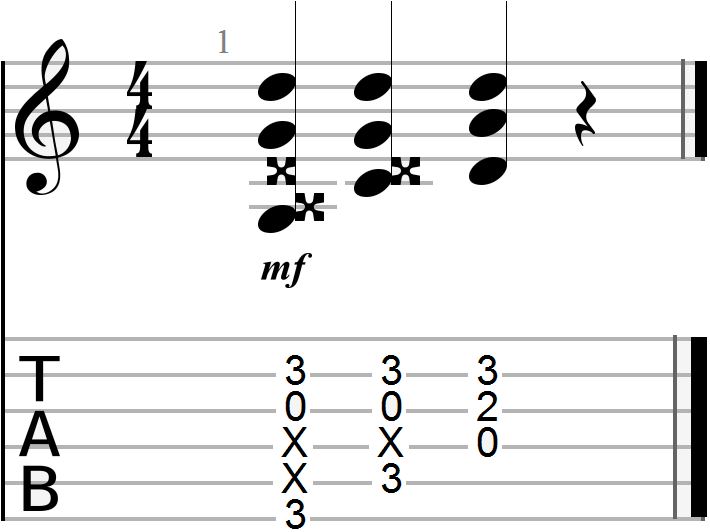 G, C and D Chord Progression (open form)