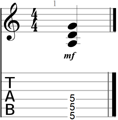G Major Power Chord Shape (drop D version)
