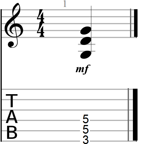 G Major Power Chord Shape