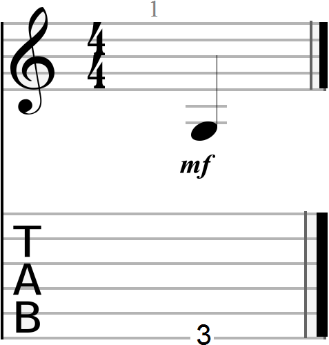 G Note Notation and Tablature