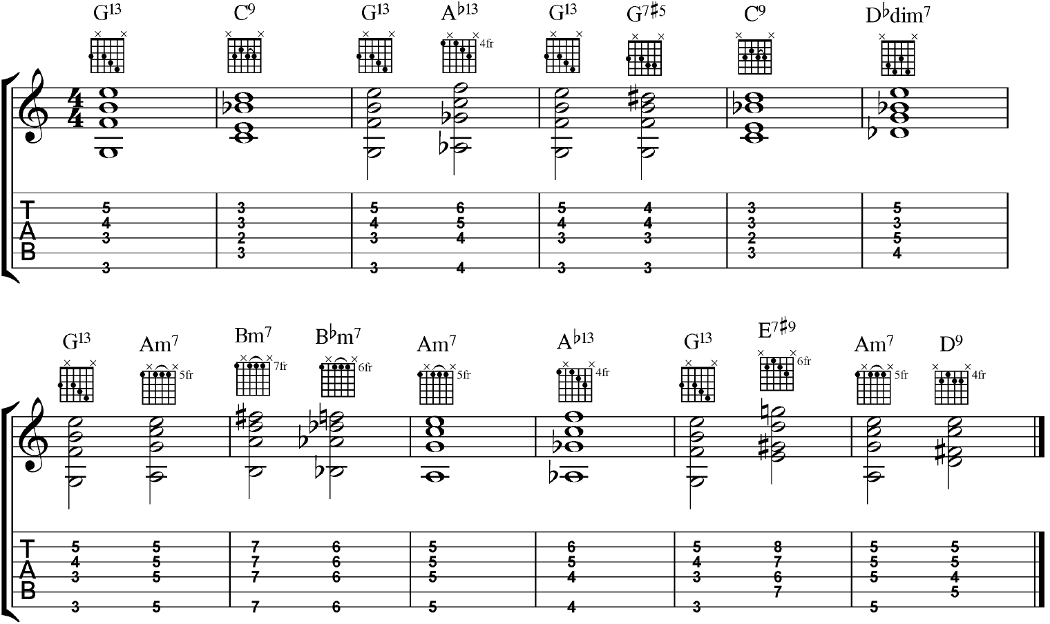 how to play harmony chords on guitar