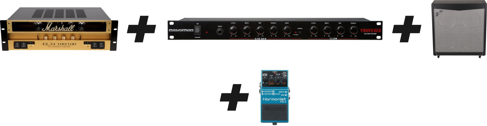 Guitar Rack System Setup Option (preamp, power amp and speaker)