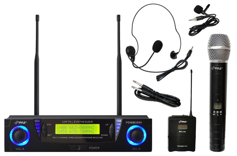 Pyle Wireless Microphone System (multi-channel version)