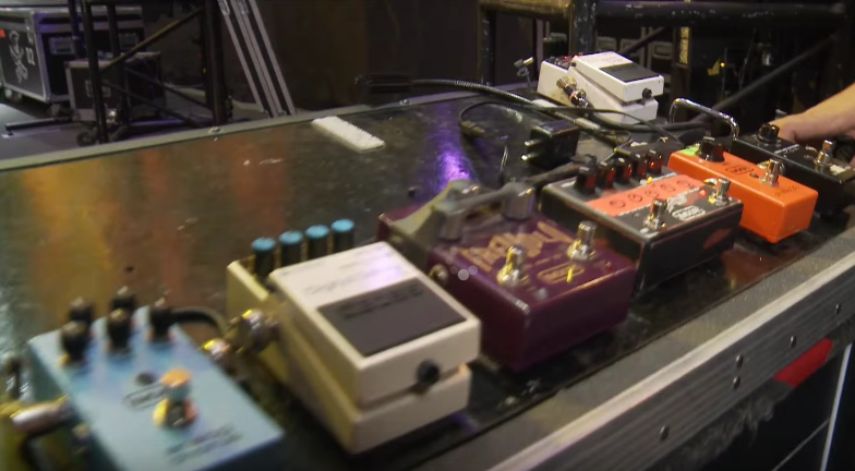 Slash's Pedalboard