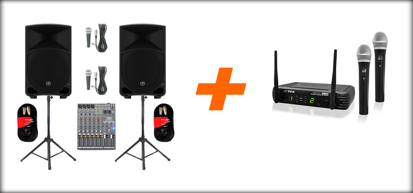 Wireless PA System Package and Reciever Pairing