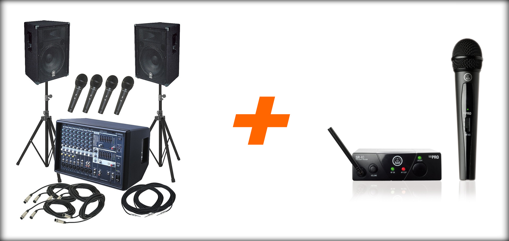 Yamaha and AKG Wireless PA System Package
