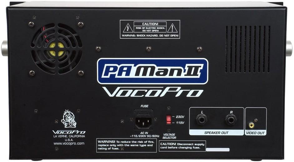 VocoPro PAMan-II Back Panel