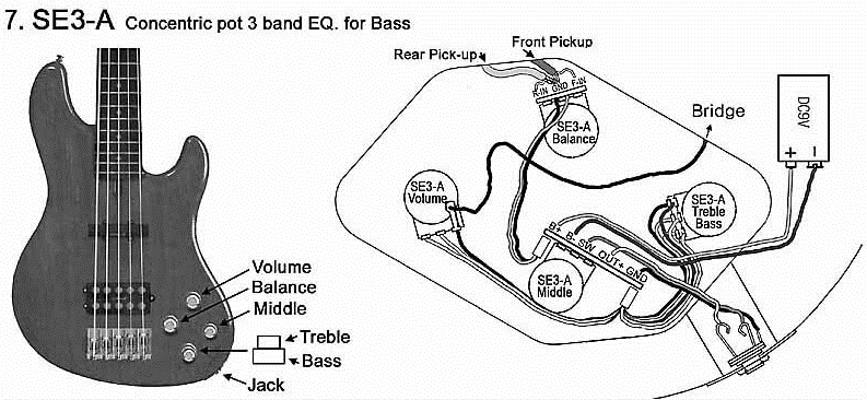 Bass Guitar Active Pickup Wiring Diagram
