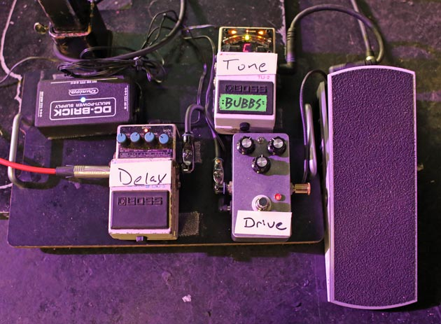 Brent Hinds Lap Steel Pedalboard