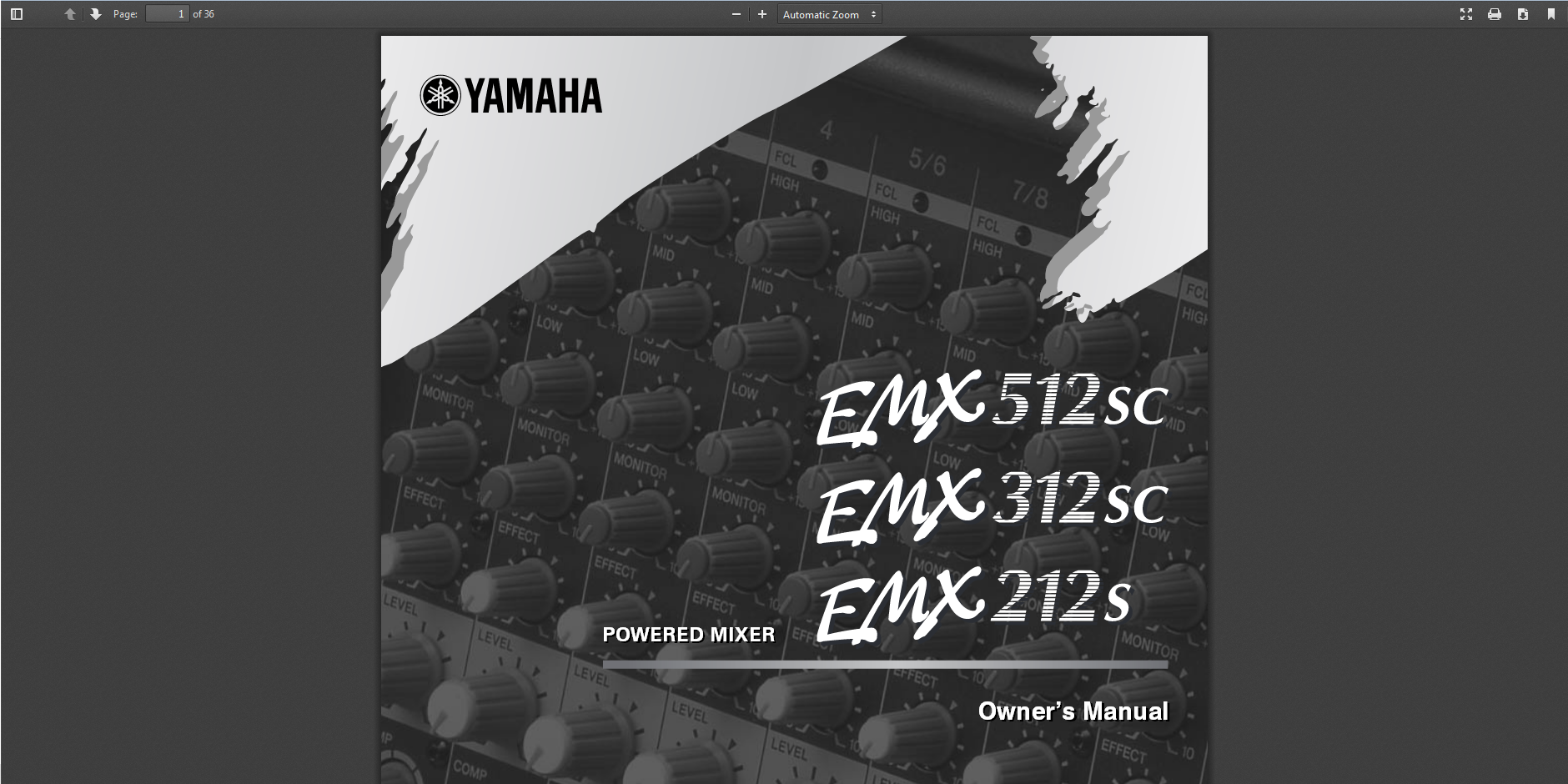 Yamaha Powered Mixer Manual