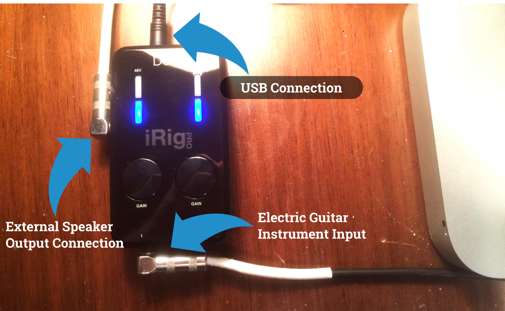 iRig Pro Duo Guitar Connection