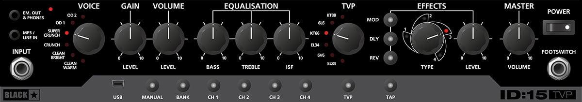 Blackstar Combo Amp Front Panel Closeup