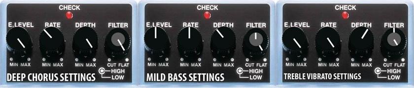 Boss CE-5 Chorus Pedal Settings