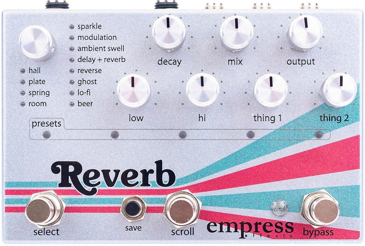 Empress Guitar Reverb Pedal with MIDI