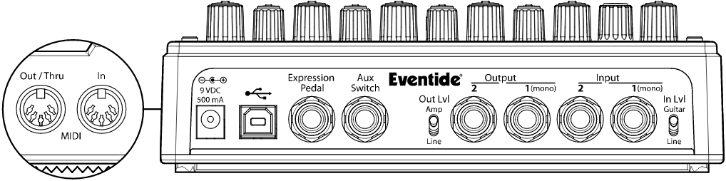 Eventide Space Reverb Connections