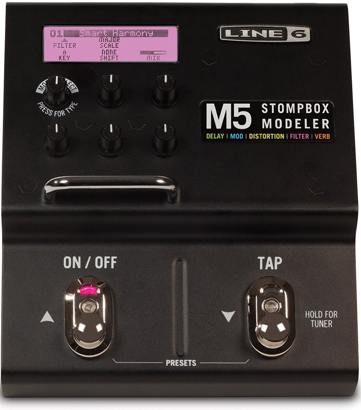 Line 6 M5 Stompbox Modeler with Reverb and MIDI i/o