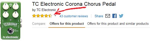 TC Electronic Corona Chorus Pedal Amazon Reviews