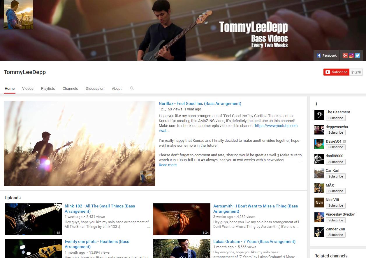 Tommy Lee Depp Bass Channel Screen Grab