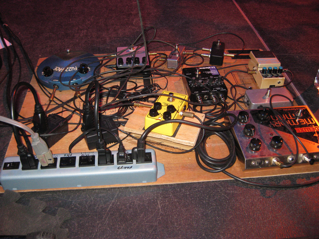 Eric Johnson's Pedalboard