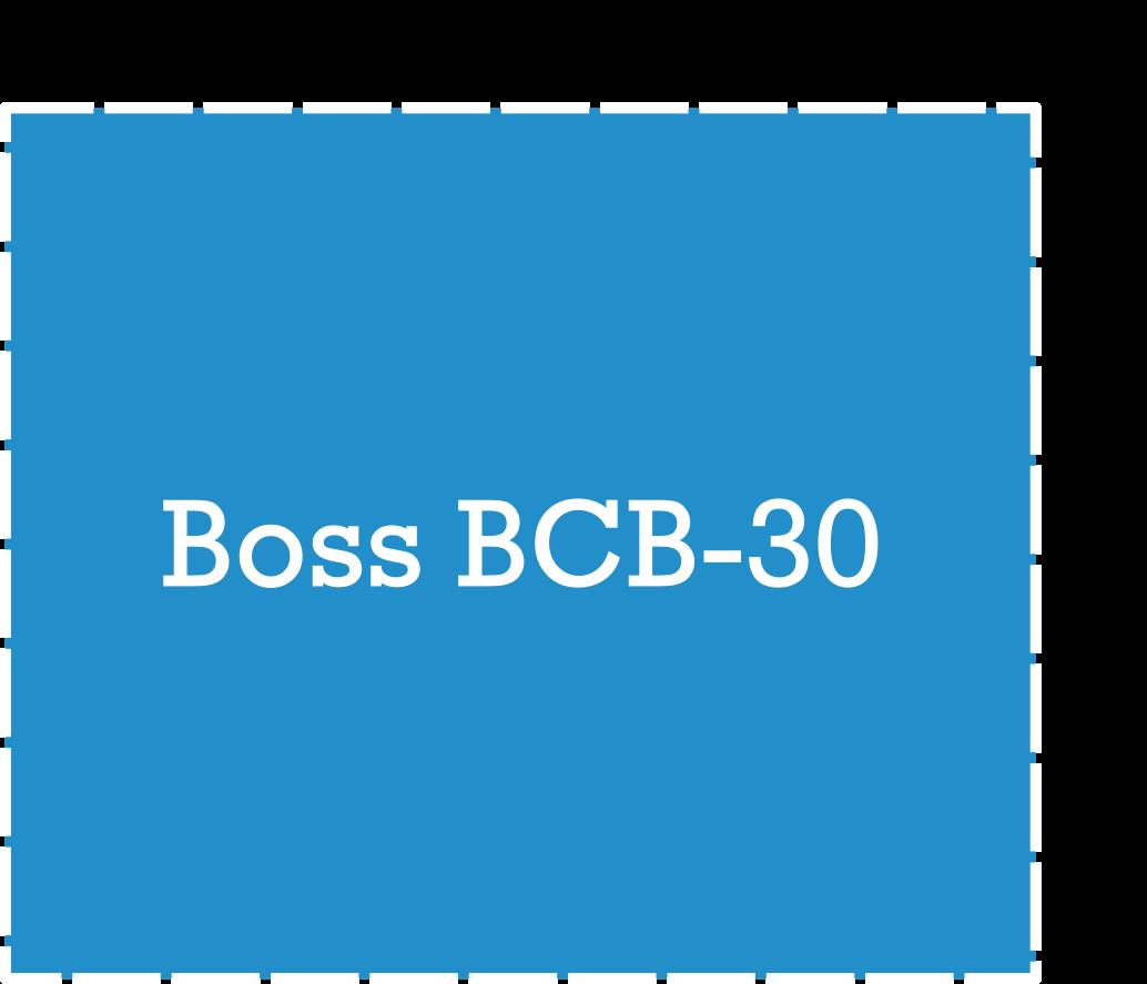 Boss BCB-30 Pedalboard Dimensions