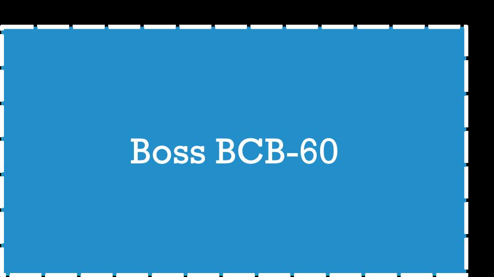 Boss BCB-60 Pedalboard Dimensions