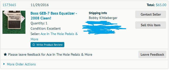 Boss GEB-7 Bass Equalizer Pedal for a Small Pedalboard