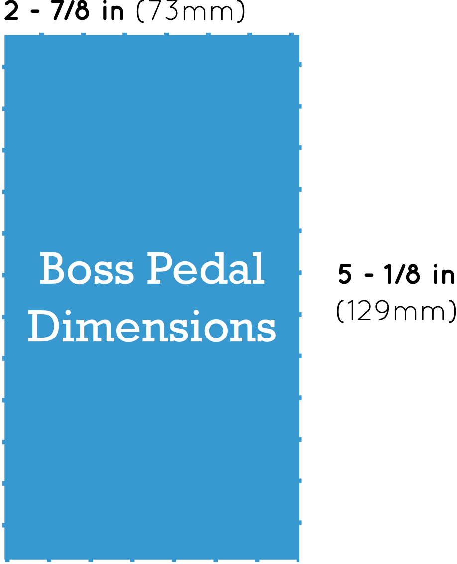 Boss Guitar Pedal Dimensions