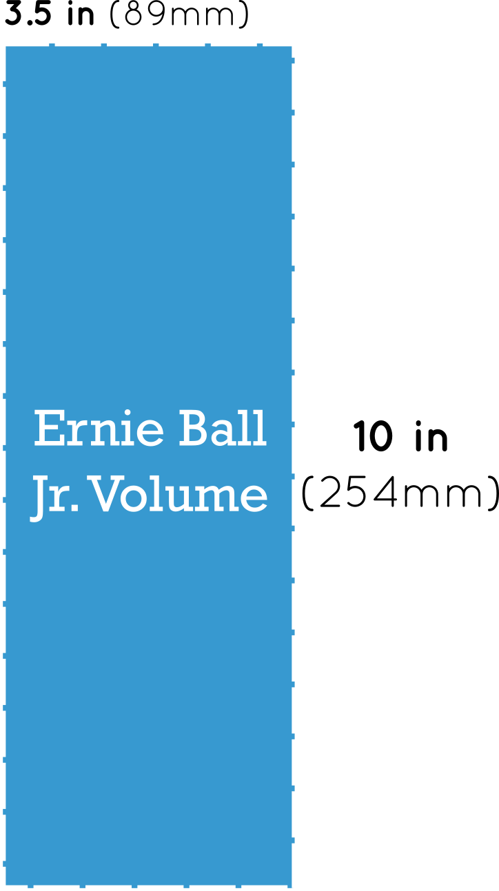 Ernie Ball Jr. Volume Pedal Dimensions
