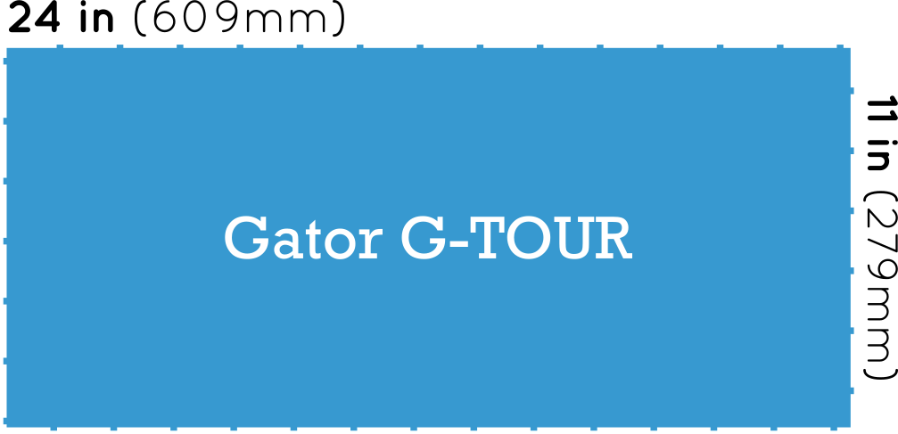 Gator Cases G-Tour Pedalboard Dimensions