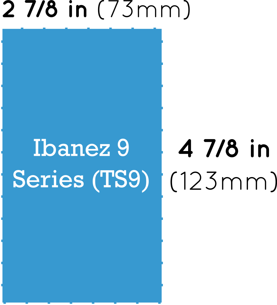 Ibanez 9 Series Pedal Dimensions (TS9 Tube Screamer)