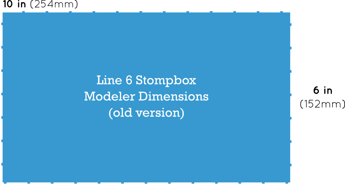 Line 6 DL4 Delay Modeler Dimensions