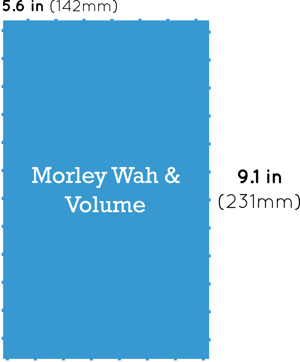 Morley Wah and Volume Pedal Dimensions
