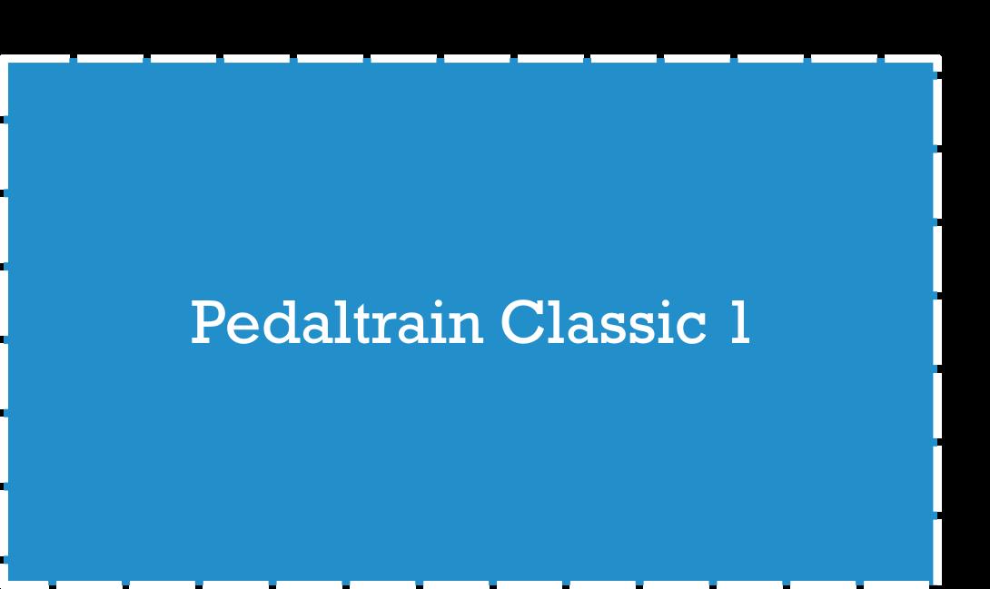 Pedaltrain Classic 1 Pedalboard Dimensions