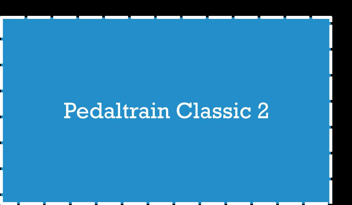 Pedaltrain Classic 2 Pedalboard Dimensions