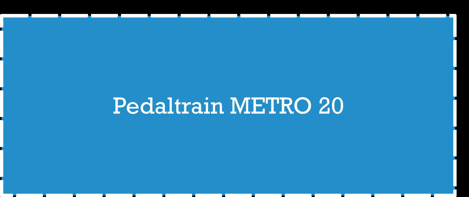Pedaltrain Metro 20 Pedalboard Dimensions