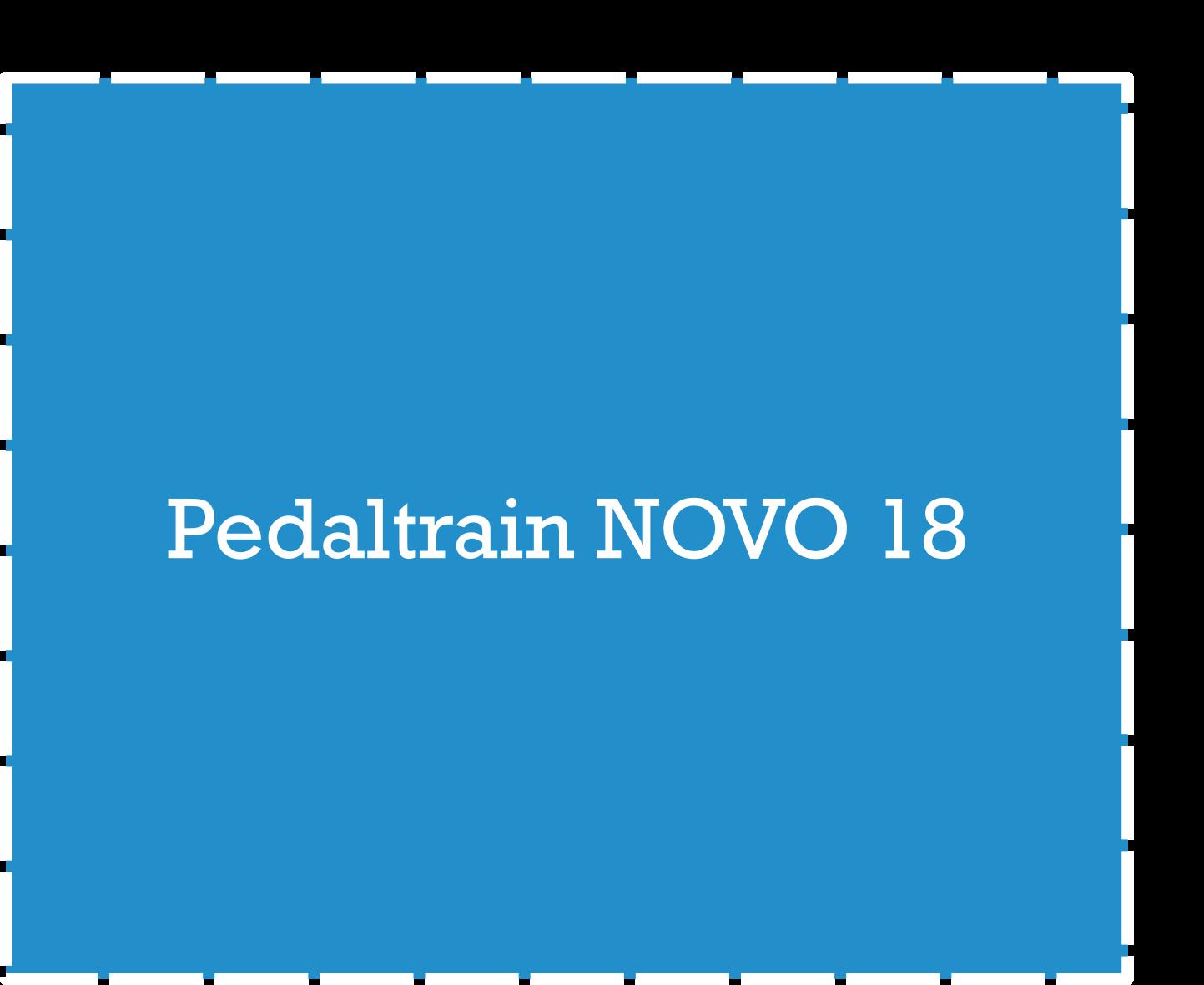 Pedaltrain NOVO 18 Pedalboard Dimensions
