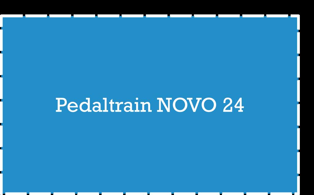 Pedaltrain NOVO 24 Pedalboard Dimensions