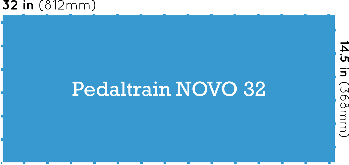 Pedaltrain NOVO 32 Pedalboard Dimensions
