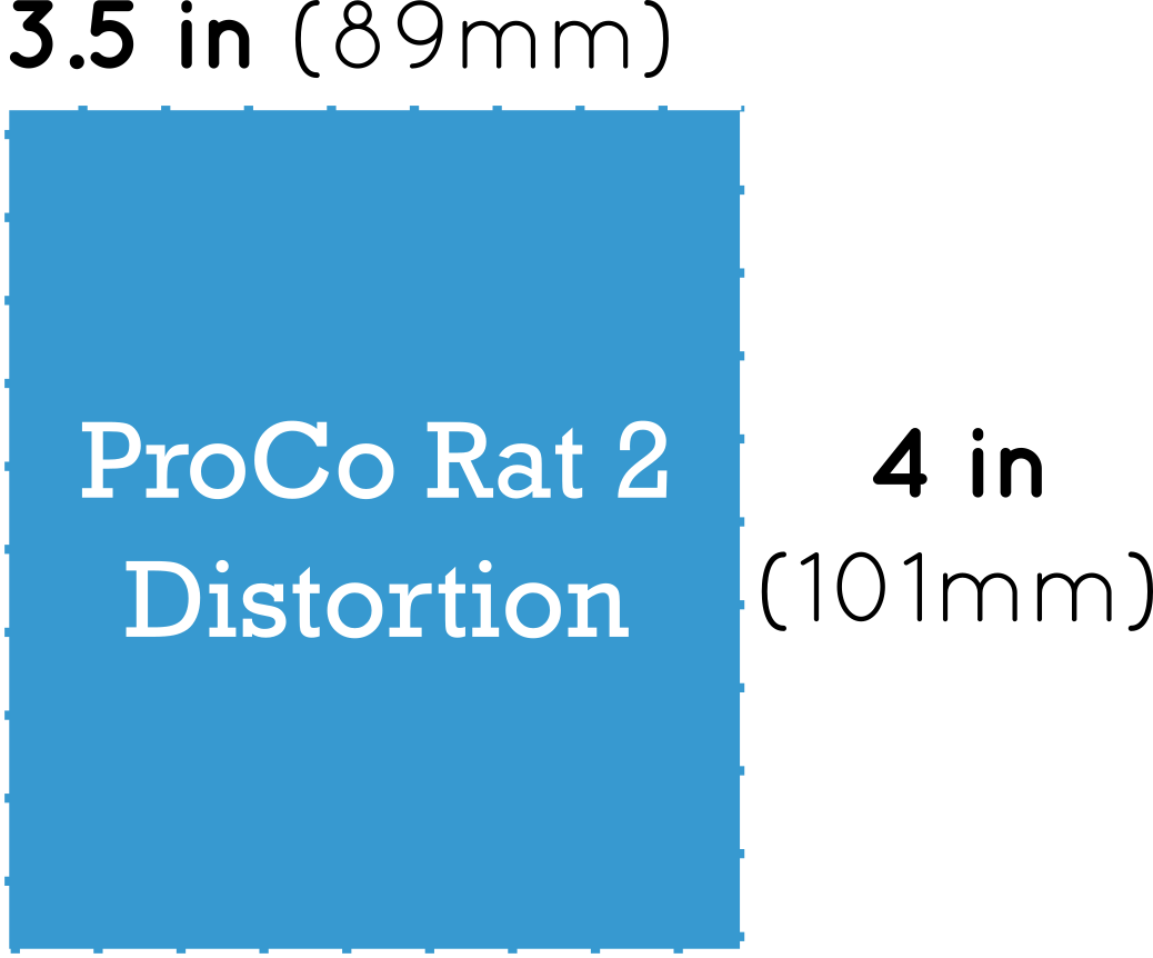 ProCo Rat 2 Distortion Pedal Dimensions