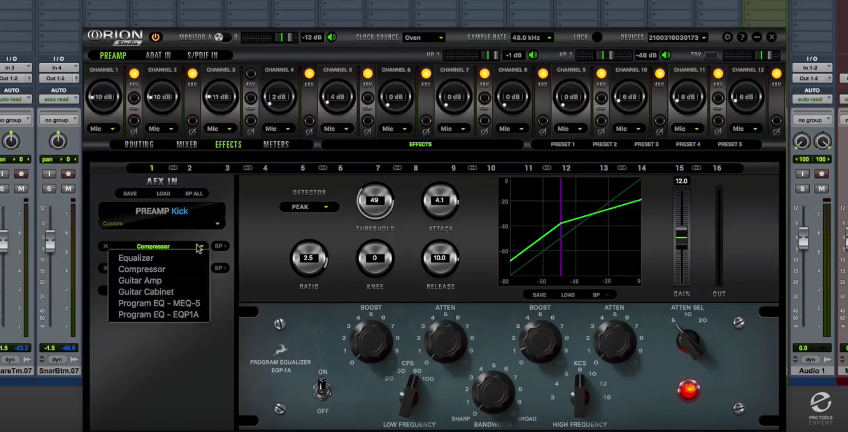 Antelope Audio Orion Studio Software Screenshot