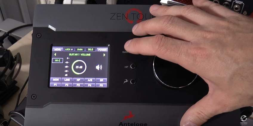 Antelope Audio Zen Tour Gain Button