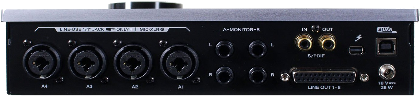 Antelope Audio Zen Tour Thunderbolt Audio Interface Back Panel